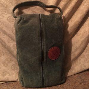 Glenview Club Suede Hunter Green Bag